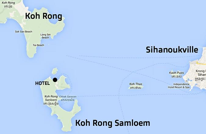 Mapa Koh Rong