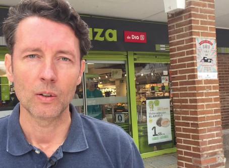 An Englishman in a Spanish supermarket