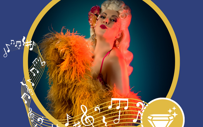 Dallas Fox Burlesque Bandstand performer