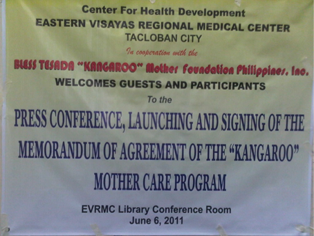 Eastern Visayas Regional Medical Center (EVRMC) Espouse Kangaroo Mother Care