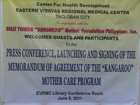 Eastern Visayas Regional Medical Center (EVRMC) Espouse Kangaroo Mother Care