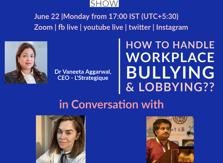 Webinar on Mental healthcare - Bullying & Lobbying