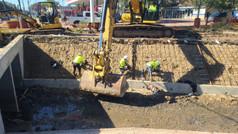 Construction progress on Sims Bayou