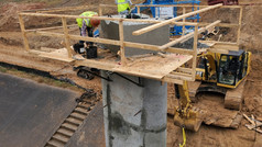 Construction progress on Brays Bayou