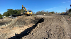 Construction progress on Armand Bayou