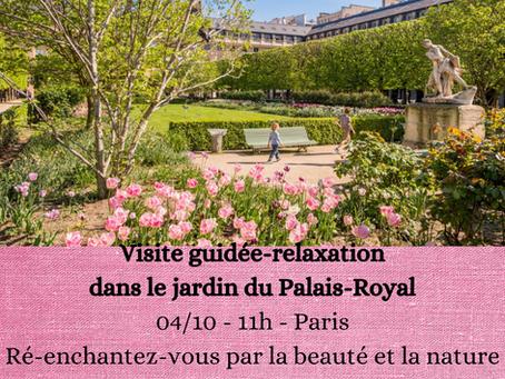 Visite guidée et relaxation dans le parc du Jardin du Palais-Royal à Paris le 4 octobre