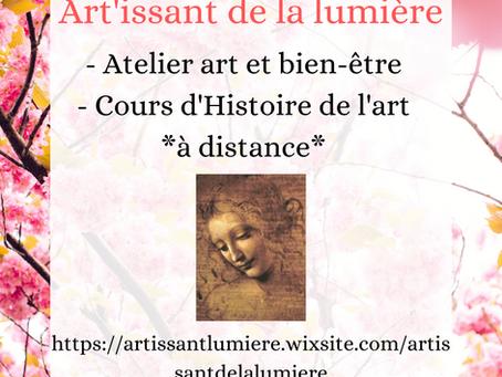 Atelier Art & Bien-être et cours d'Histoire de l'art à distance