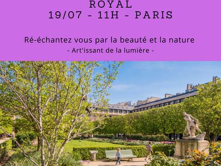 Visite guidée et relaxation dans le jardin du Palais-Royal (Paris)