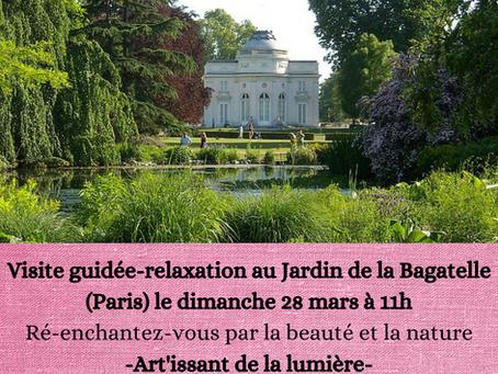 Visite guidée et relaxation dans le jardin de la Bagatelle (Paris)