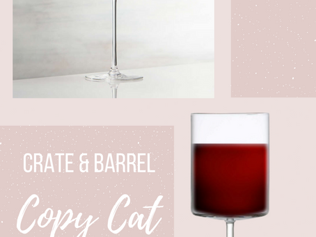 CRATE&BARREL Edge Wine Glass