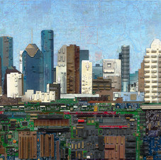 Houston with Map Sky