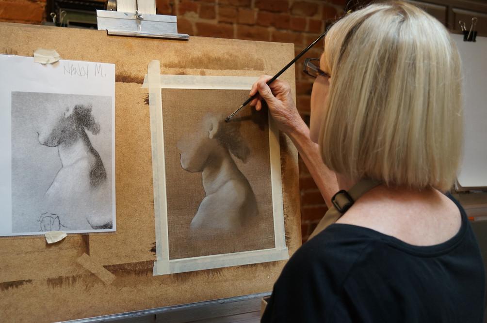Nancy works on a Vanderpoel studh.jpg