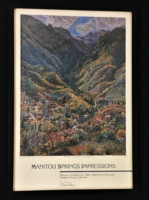 Manitou Springs Impressions Poster 1988