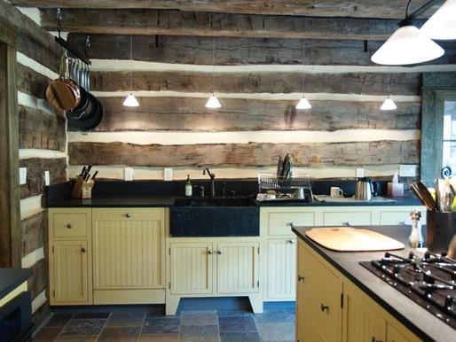 Diane Lohman Home Design-Repurposed Antique Log Cabin