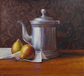 Painting of Tea Pot and Pears.jpg