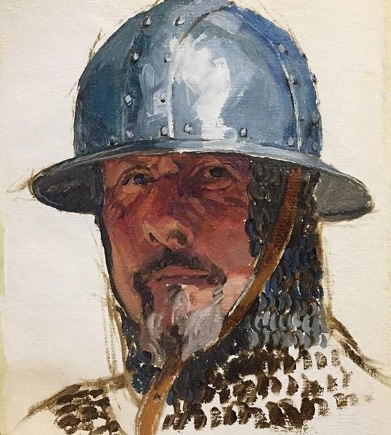 Cody Winiecki Watercolor of Knight.jpg