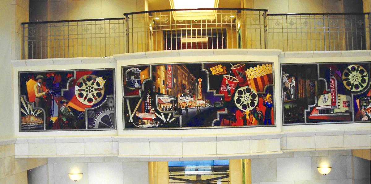 Cinemark Murals, corporate hHeadquarters