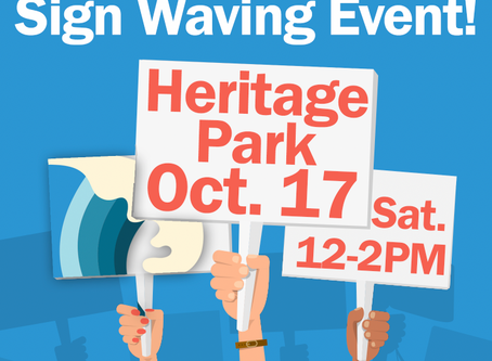 Ride the Blue Wave Sign Waving Event!