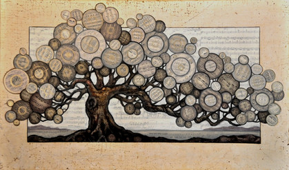 Monochromatic Dream Tree 24_ X 36_ - 201