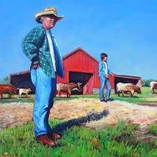 Joe and Collin on the Farm