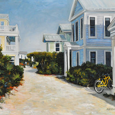 Yellow bicycles in Seaside