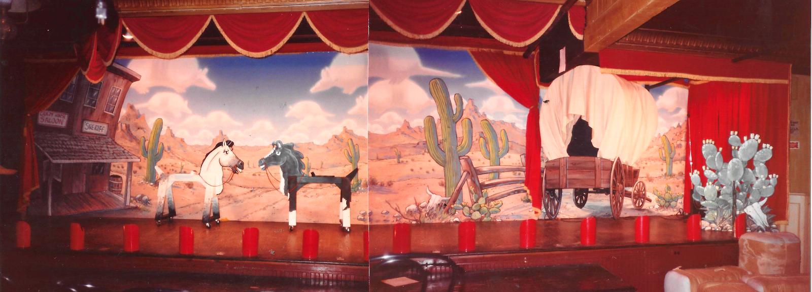 Six Flags Crazy Horse Saloon; backdrop a