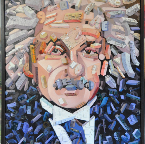 Einstein with Circuit Boards