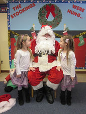 Santa at The Little Red Schoolhouse