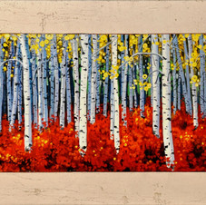 Aspens with Red