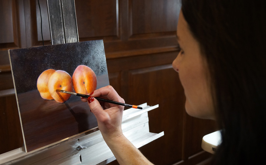 Jenn working on apricots.jpg