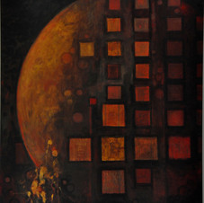 Moon Squares , commissioned abstract