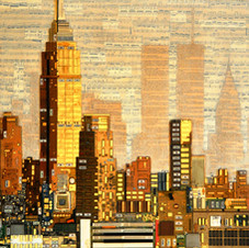 New York City with Ghost Buildings