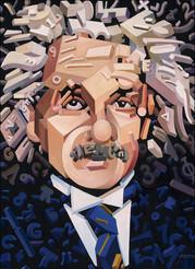 Einstein and His Calculation  30_ X 40_.