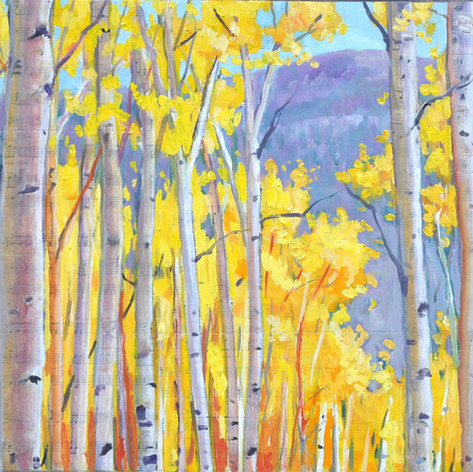 Cute Little Aspens with Music collage