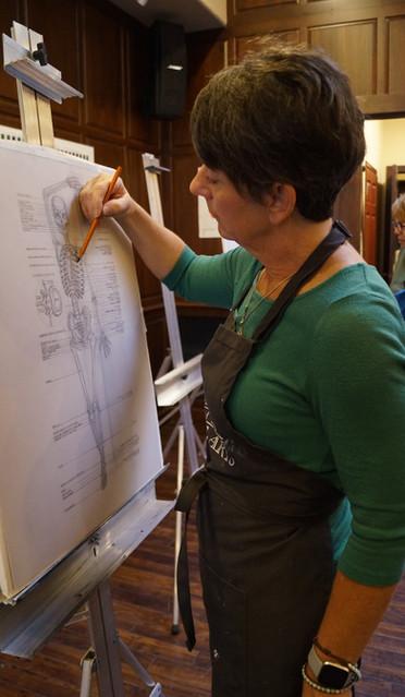 Tracy working on skeleton.jpg