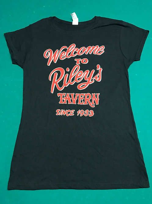 Welcome To Riley's T-Shirt - Womans Tapered Cut