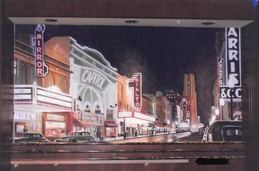 Old Dallas Mural for Cinemark Headquarte