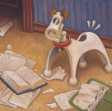 Ready Dog Likes Homework too Much