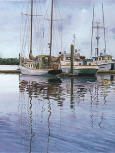 Janeen Schissler Watercolor Marinescape.