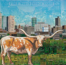 Fort Worth with Longhorn