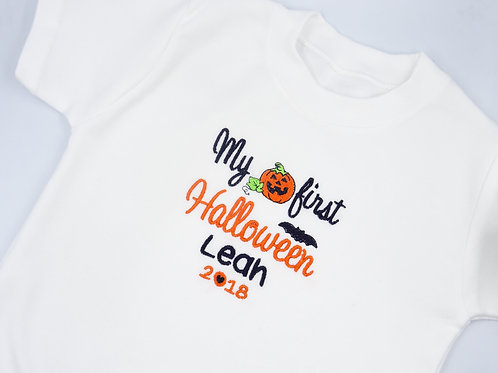 Personalised My First Halloween with Pumpkin T-Shirt
