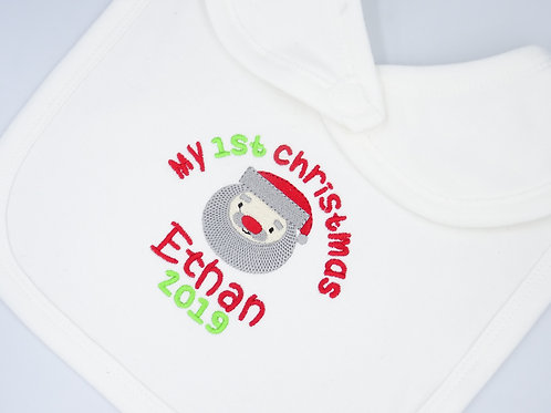 Personalised My 1st Christmas with Santa Bib