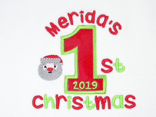 Personalised Name Number Christmas T-Shirt