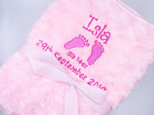 Personalised Blanket with Feet - Add Name and Full Details