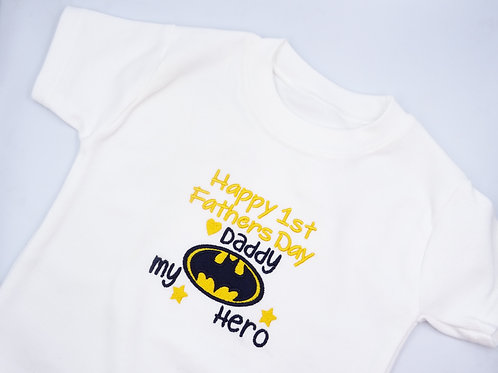 Batman Happy 1st Fathers Day Daddy T-Shirt