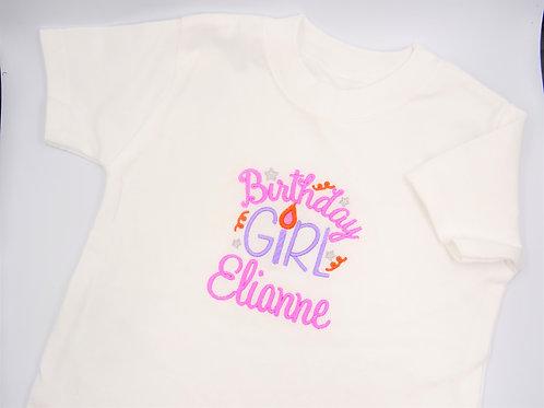 Personalised Birthday Girl T-Shirt