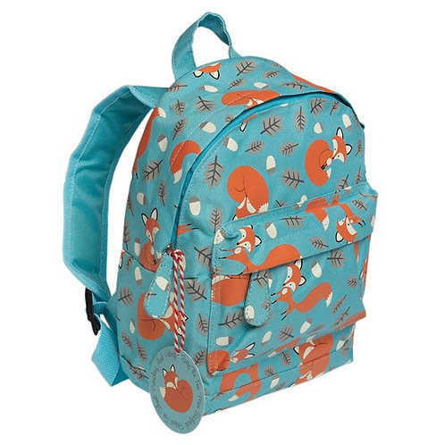 Personalised Embroidered Mini Backpack - Rusty the Fox - Add Name