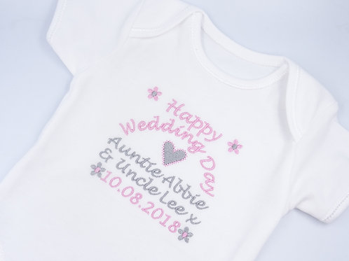 Personalised Happy Wedding Day Short Sleeved Vest