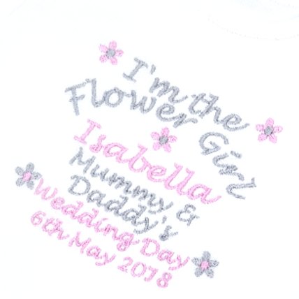 Personalised I'm the Flower Girl Wedding Day Long Sleeved Vest
