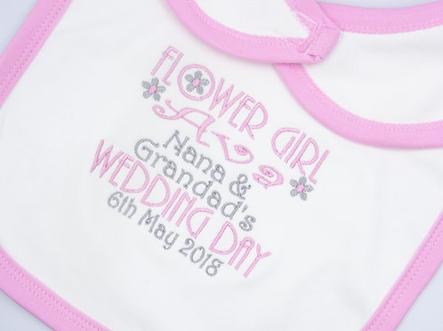 Personalised Flower Girl Wedding Day Bib